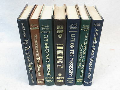 MARK TWAIN  Lot of 7 Reader's Digest World's Best Reading Series HCs