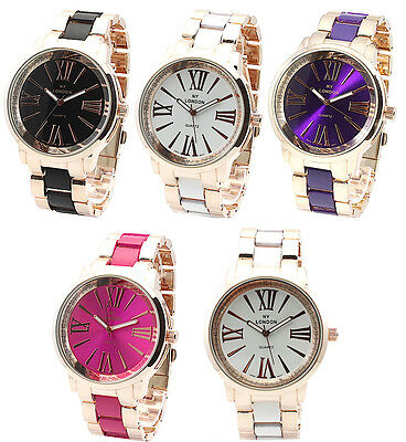 Rose Gold Women's Fashion Crystal Classic Watch Steel Luxury Prince NY Designer
