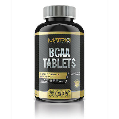 Matrix Bcaa Tablets - Amino Acids - 2:1:1 - Support Muscle Growth - 120 Caps