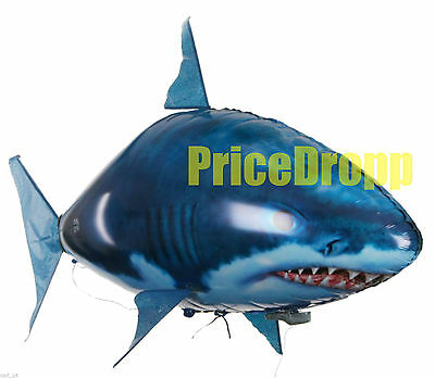 Air Flying Shark Fish Swimmer - Remote Controlled RC Toy Children's XMAS Gift