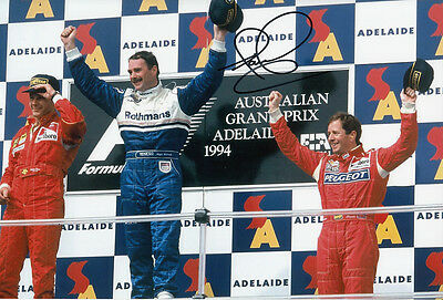 Nigel Mansell Hand Signed Williams Renault Photo 12x8 4.