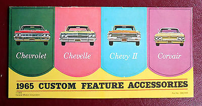 1965 CHEVROLET CHEVELLE CORVAIR CHEVY 2  24 PG ACCESSORIES BROCHURE EXC ORIGINAL
