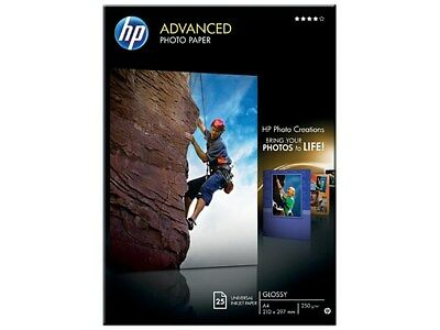 HP Advanced (A4) Glossy Photo Paper (25 Sheets) 250g/m2 (White)