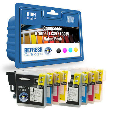 Refresh Cartridges 8 Pack 2 Full Sets Lc39 Lc985 Ink Compatible With Brother Pri