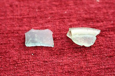 ANCIENT ROMAN GLASS FRAGMENTS !  2.3g  2 PCS #0116