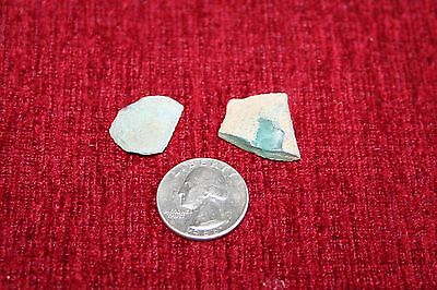 ANCIENT ROMAN GLASS FRAGMENTS !  4.5g  2 PCS #0120