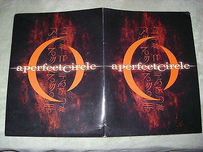 RARE PROMO A Perfect Circle CD PRESS KIT FOLDER 8x10 + Mer De Noms TOOL Puscifer