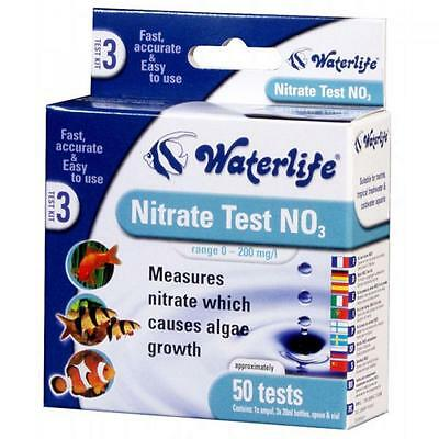 Waterlife Nitrate Test Kit Tropical Freshwater Marine 6 minutes - NO3 - 50 kits