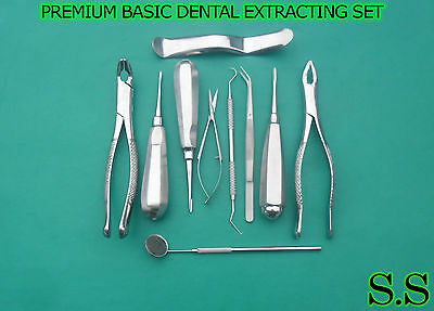 10 Pcs Premium Basic Dental Kit Elevator Surgical Instruments Extracting Fcps