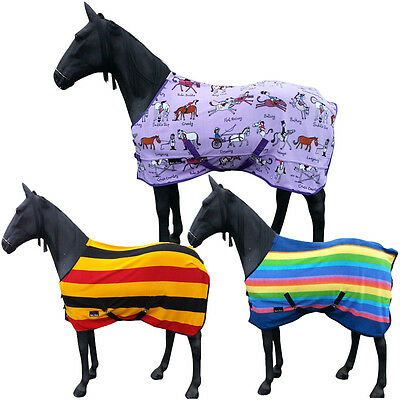 Equestrian Horse Cooler Stable Show Winter Travel Combo Fleece Rug Size 4 3-7 0