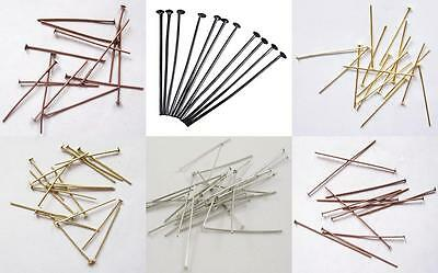 Iron Headpins Choice of Colours & Sizes - Findings Jewellery Making Earrings