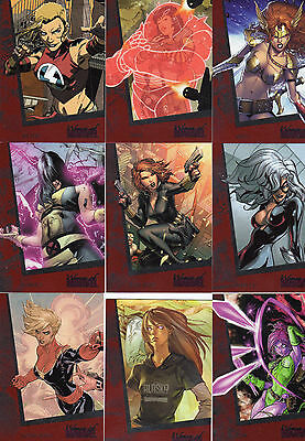 Women of Marvel 1 & 2 Sets & Ruby, Emerald, Sapphire & 4 Chase & Divas Sets