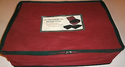 "Ornament Storage Case  19"" x 13.5"" x 5.5""  Holds 48 Ornaments"