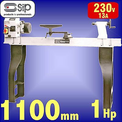 SIP 01940 Rotating Head Cast Iron Wood Turning Lathe 1100mm B/C bowl plate
