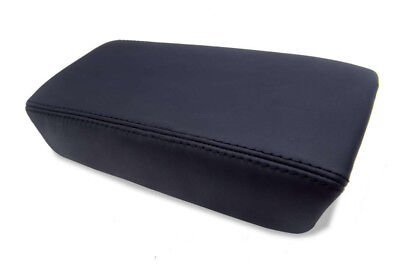 Center Console Armrest Real Leather Cover for Honda Accord 03-07 Black