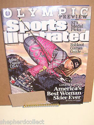 Sports Illustrated February 8, 2010 Olympic Preview - Lindsey Vonn
