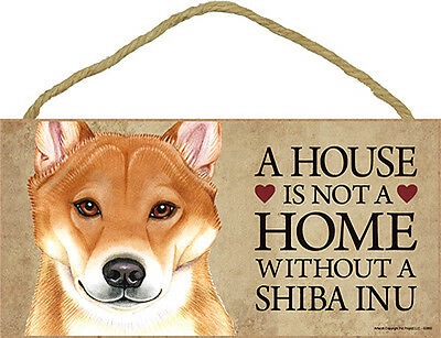 Shiba Inu Wood Dog Sign Wall Plaque Photo Display 5 x 10 – House Is Not A Hom...