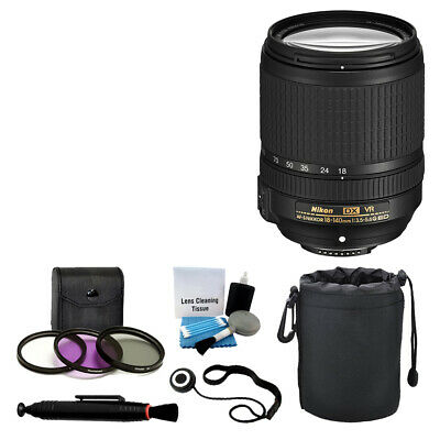 NEW Nikon 18-140mm VR AF-S DX NIKKOR Zoom Lens + UV Filter Kit Lens Pen Bundle