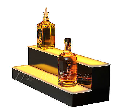 "22"" LED BAR SHELF, Two Step, Liquor Bottle Shelves, Bottle Display Shelving rack"