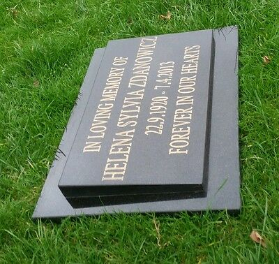 Black Granite Memorial Plaque Stone Engraved Headstone plaque