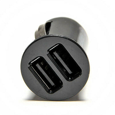 Power Dual 2 Port USB Mini Bullet Car Charger Adapter for iPhone iPod  12V