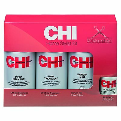 2x CHI Set Infra je 350ml Shampoo Keratin Mist Treatment + Silk Infusion 50m