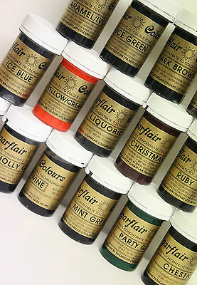 Any 6 Sugarflair Paste Gel Food Colour / Icing Colouring