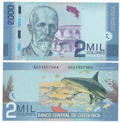 Costa Rica P-275 2009(2011) 2000 Colones (Gem UNC)