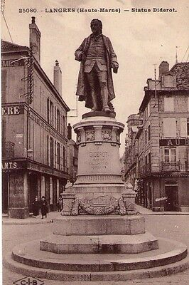 Cpa: Langres / Statue  Diderot / Dpt 52