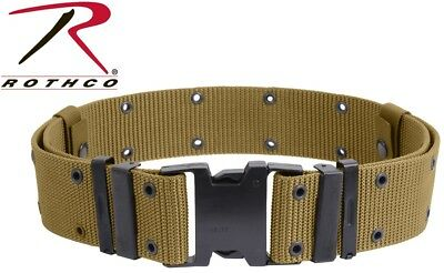 Large Coyote Brown Marine Army Nylon Quick Release Pistol Web Belt 9123 #A