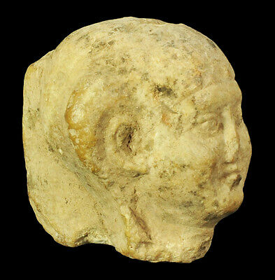 Ancient Egyptian Limestone Head Of Herpokrates