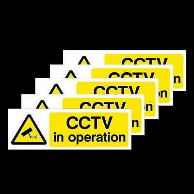 Cctv In Operation - *pack Of 5* - Window Stickers - All Sizes! (Misc2R)