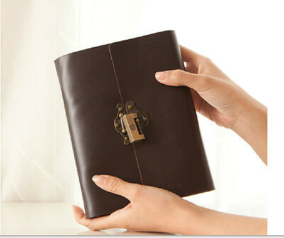 Journal secret diary with lock and password code genuine leather 0080907