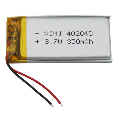 3.7V 350 mAh Polymer Li Lithium cells For MP4 GPS Glasses Headset Watch 402040