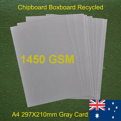 30 X A4 Chipboard Boxboard Cardboard Recycled Gray Card 1450gsm 2.5mm