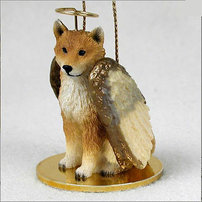 Shiba Inu Dog Figurine Ornament Angel Statue Hand Painted