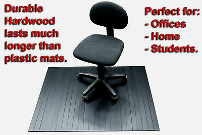 Chair Mats / Wooden / Black $88 - Includes Gst And Ozwide Postage