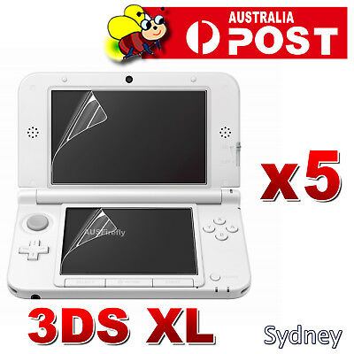 5x Brand New Nintendo 3DS XL / LL HD CLEAR LCD SCREEN PROTECTOR Cover Film Guard