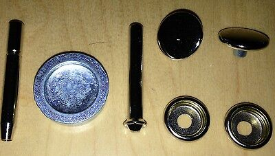 Apron Cover Repair Kit Press Studs + Tool - Silver Cross Coach Built Pram Spares