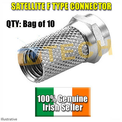 Premium High Quality F Connector 10 Pack Suitable for RG6 Free TV connection