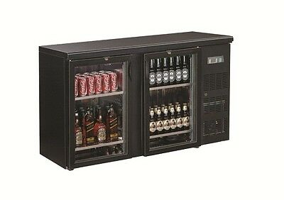 BM2100G Black Magic Bar Cooler Two Door Stainless Steel Shelving