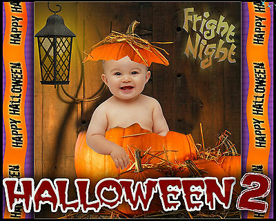 H2 Digital Backgrounds Halloween Fall Templates Backdrops Children Photography