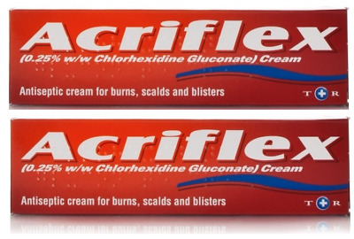 2x Acriflex Antiseptic Cream 30g For Burns, Bites, Scalds & Blisters Sunburn