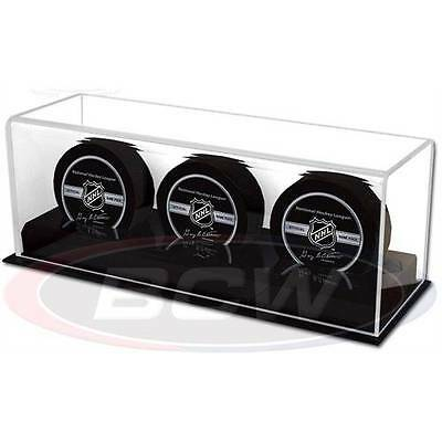 Acrylic Triple Hockey Puck Glass Display Case