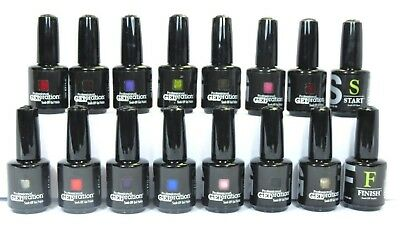 New 2014 Jessica Geleration Soak Off Gel Nail Polish Set Of 14 + Base & Top Coat