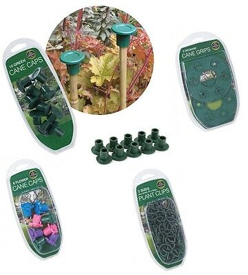 Flower Cane Caps Grips Plant Clips Garden Accessories Garland Supports Ties NEW