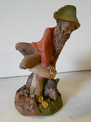 """Tom Clark Gnome Collectible """"Kevin"""" '91, ED #30 Perched on a Mushroom! NOS"""