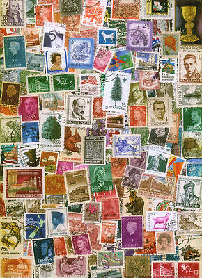 500 Different World Wide Stamps Lot Attractive ! No Duplicate !