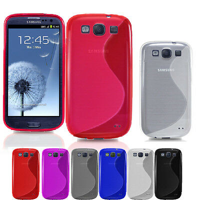 Wave S-Line TPU Silicone Gel Skin Case Cover For Samsung Galaxy S3 i9300 SIII