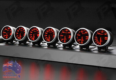 4x Link Meter BF DEFI STYLE GAUGE 60mm RED/WHITE For WRX STI EVO FPV RX3 RX7